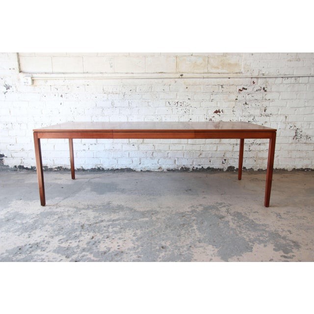 1957 Vintage Florence Knoll for Knoll International Walnut Extension Dining Table - Image 4 of 10