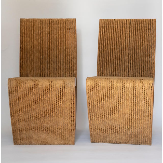 1970s model of Frank Gehry's remarkable cardboard constructed chair from the Easy Edges collection. Initially offered for...