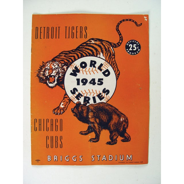 Vintage World Series Tigers & Cubs Program Book For Sale - Image 5 of 5