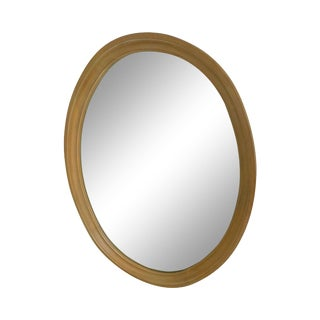 Ethan Allen French Country Maple Oval Mirror For Sale