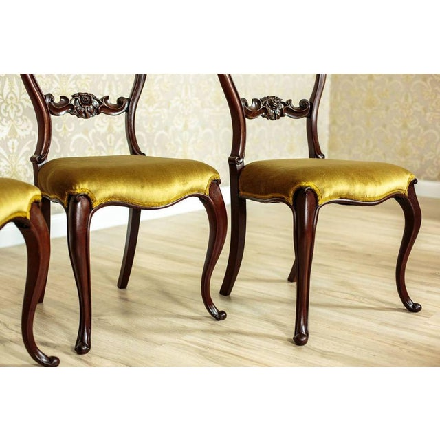 Wood 19th Century Louis Philippe Mahogany Chairs Circa 1880 - Set of 4 For Sale - Image 7 of 8