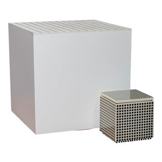 """Pair of """"Cubo Luce"""" Table Lamps by Studio Opi for Cini & Nils For Sale"""