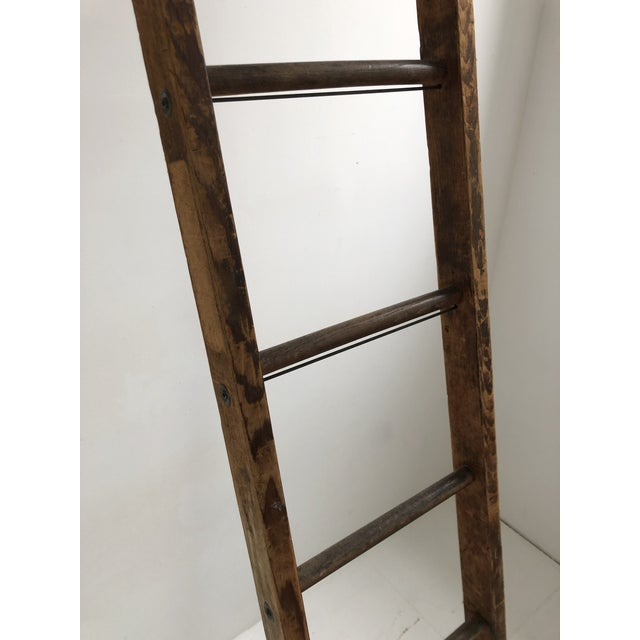 Metal Vintage Mid-Century Working Ladder For Sale - Image 7 of 9