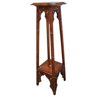 Middle Eastern Moorish Inlaid Moorish Pedestal For Sale