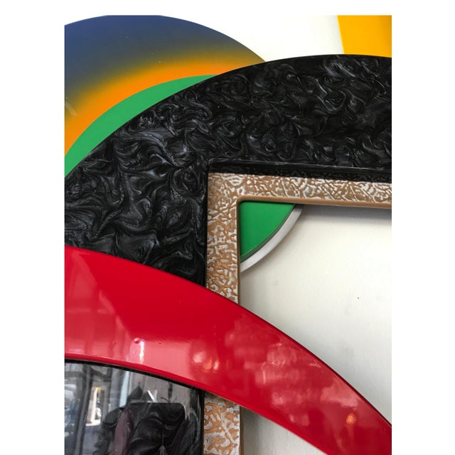 1990s Memphis Style Multi-Media Wall Sculpture For Sale - Image 5 of 10
