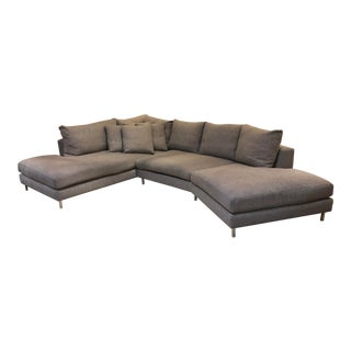 Room & Board Hayes Custom Left-Back Angled Sectional Sofa For Sale