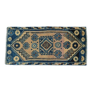 Kitchen Sink Rug, Hand Made Bath Mat Muted Colors Small Rug Laundry Decor -1′4″ × 2′10″ For Sale