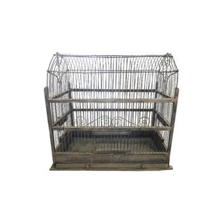 Early 20th Century Metal Arched Top Birdcage For Sale