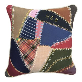Crazy Quilt Patchwork Pillow