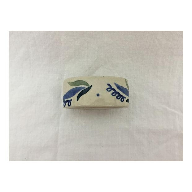Hand-Painted Porcelain Napkin Rings - Set of 5 - Image 5 of 8