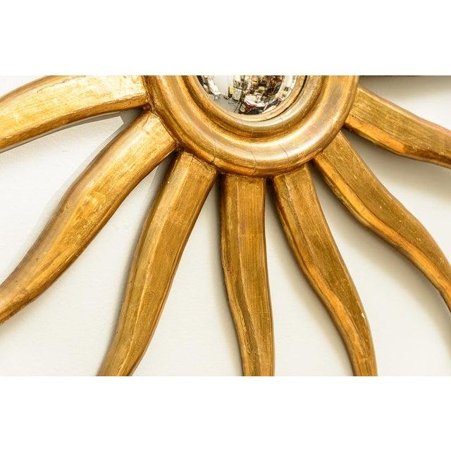 Italian Gilt Wood Sunburst Mirror With Convex Mirror For Sale - Image 9 of 13