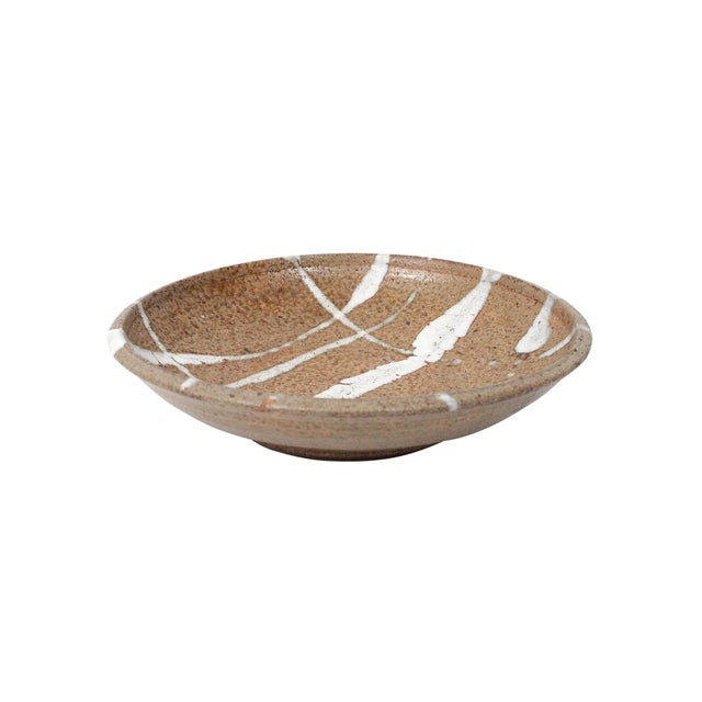 1960s 1960s Abstract Japanese Pottery Charger For Sale - Image 5 of 13