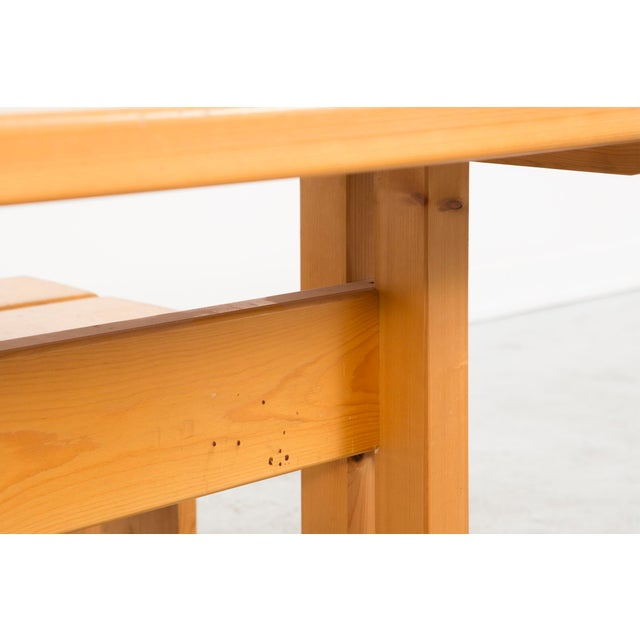 1960s Les Arcs Pine Dining Table by Charlotte Perriand For Sale - Image 5 of 9