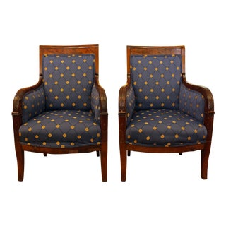 Pair of Empire Bergeres For Sale