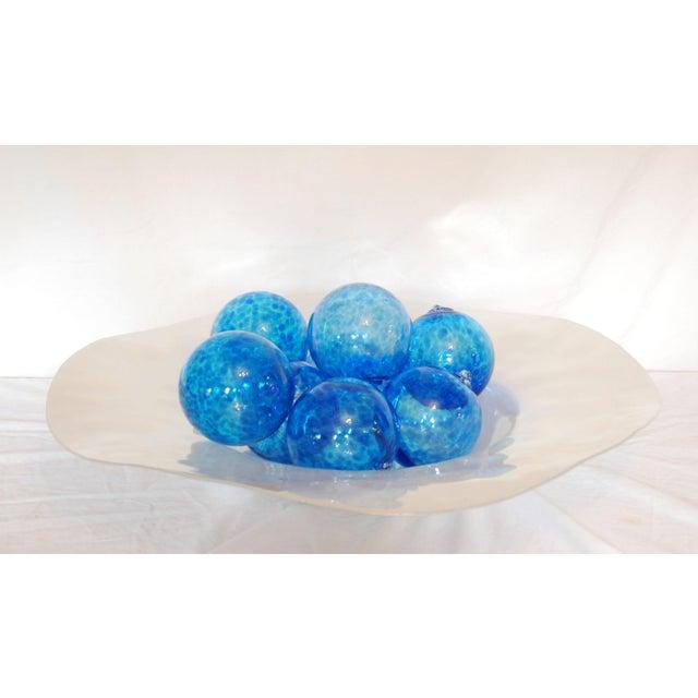 Iridescent Glass Bowl & Glass Balls - Image 3 of 9