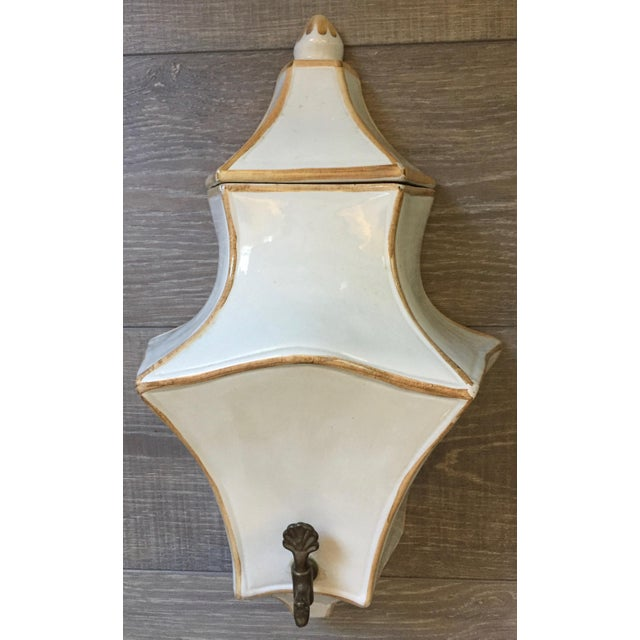 White 1970s Vintage Italian Ceramic Lavabo-3 Pieces For Sale - Image 8 of 10