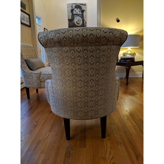 Art Deco-Inspired Accent Chairs by Thomasville - A Pair For Sale - Image 9 of 11