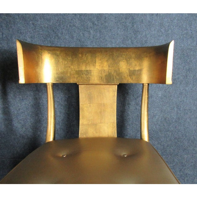 Gold Vintage Mid-Century Modern Klismos Chairs- a Pair For Sale - Image 8 of 13
