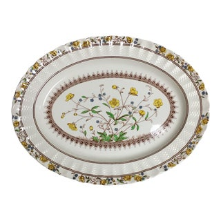 Spode Copeland Iconic Buttercup Large Oval Serving Platter For Sale