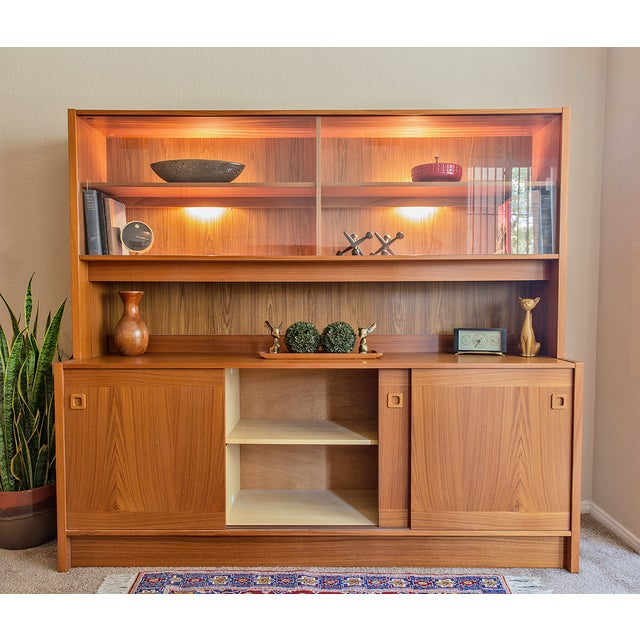 Clausen Møbler Danish Modern Teak Wall Unit/Hutch - Image 6 of 8