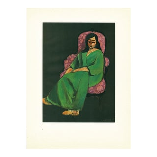 "1947 Henri Matisse, ""Seated Woman"" Original Period Lithograph For Sale"