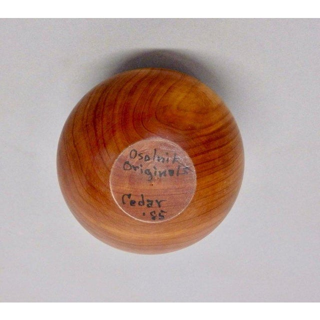 Beautifully executed Cedar wood weed pot. Made by Rude Osolnik.