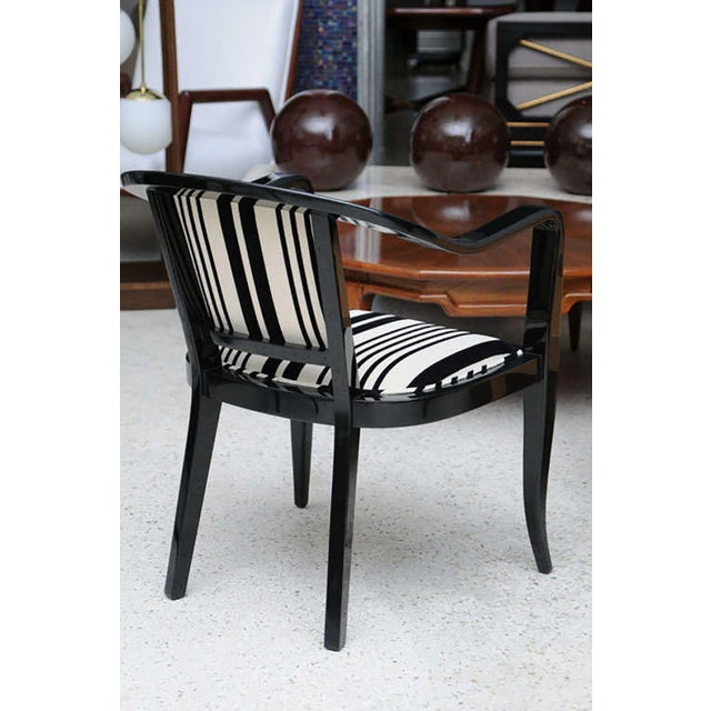 Set of Ten Ebonized Armchairs in the Style of Ed Wormley for Dunbar For Sale - Image 9 of 9