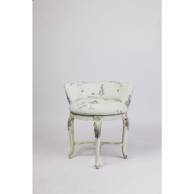 Price Reduced! Drop Dead Diva! This diminutive chair with 'Diva' upholstery would be absolutely stellar pulled up to a...