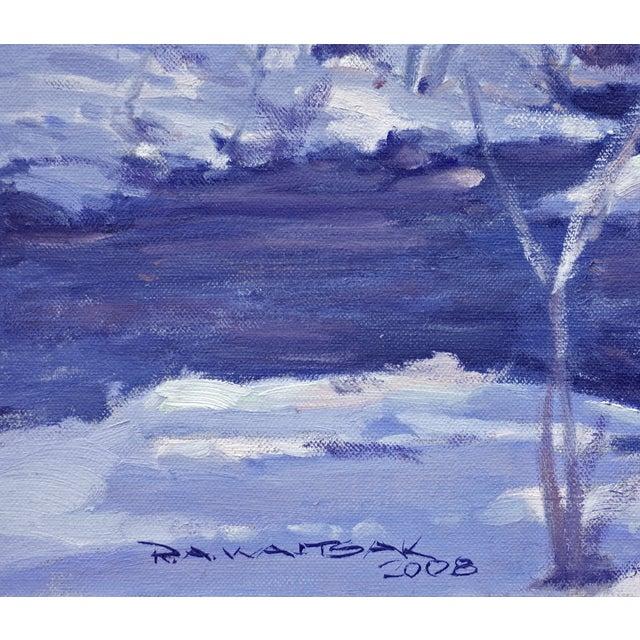 Bob Waltsak Winter Landscape Oil Painting - Image 4 of 4