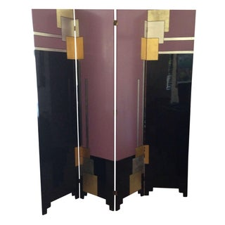 Art Deco Lacquered Screen