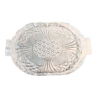 1970s Vintage Crystal Pineapple Design Tray For Sale