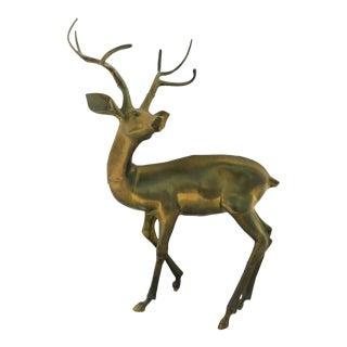 "44"" Decorative Garden Brass Deer For Sale"