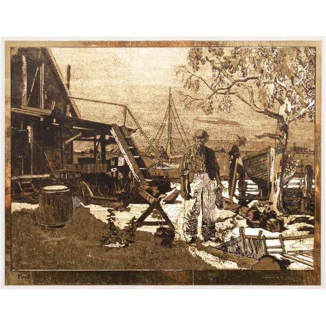 American Classical Gold-Etch Prints, Set of 4 For Sale In Dallas - Image 6 of 13