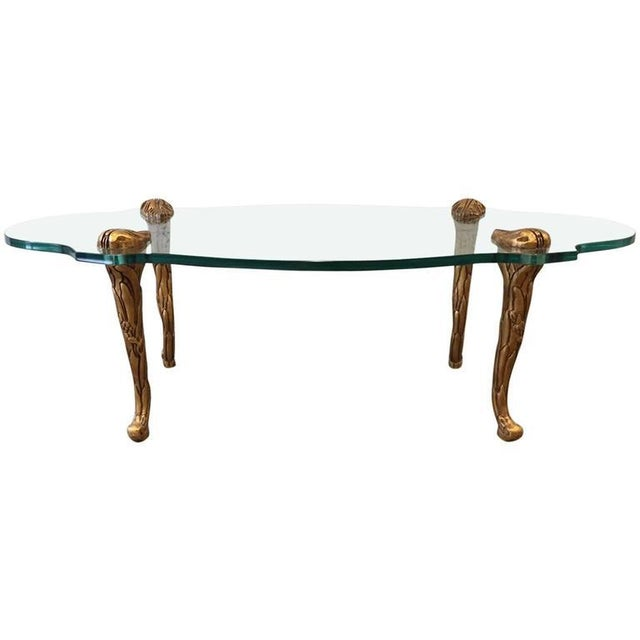 French Giltwood and Glass Coffee Table For Sale - Image 4 of 4