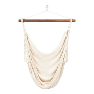 Alba Swing in Natural Creme + Walnut Rod For Sale