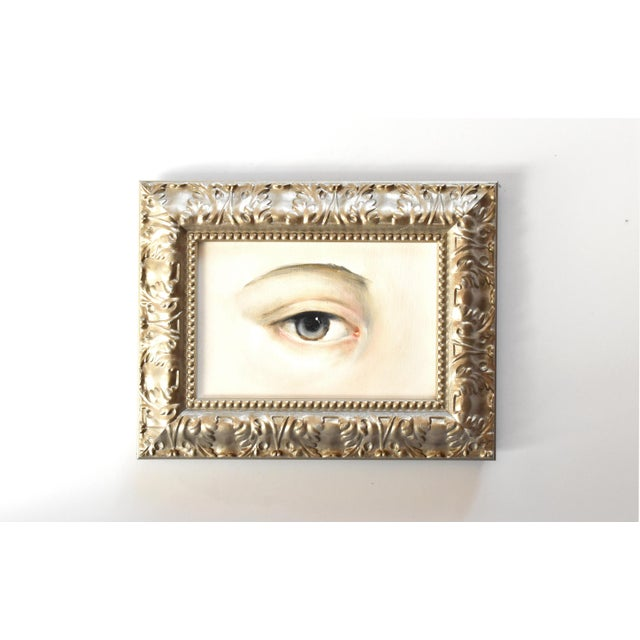 Victorian Contemporary Lover's Eye Oil Painting by Susannah Carson For Sale - Image 3 of 7
