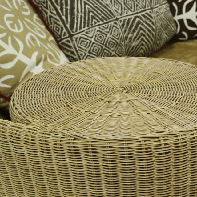 "Wicker Vladamir Kagan ""Dune"" Chaise/ Daybed by Barlow Tyrie For Sale - Image 7 of 11"
