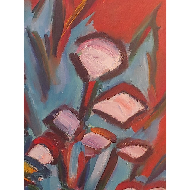 Original Lilies 1 Abstract Still Life Large Painting by Richard Youniss For Sale In Jacksonville, FL - Image 6 of 11