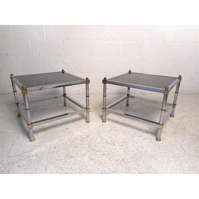 Pair of Hollywood Regency Side Tables For Sale - Image 11 of 11