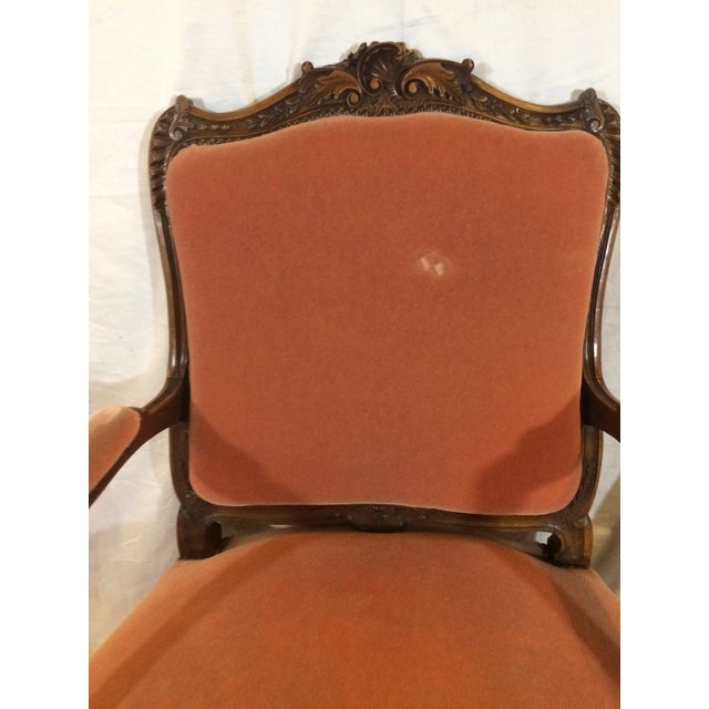 French Louis XV Style Arm Chairs - a Pair For Sale - Image 3 of 11