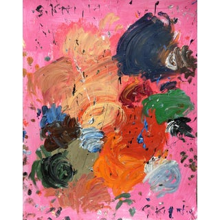 Sean Kratzert 'Strawberry' Abstract Oil Painting For Sale