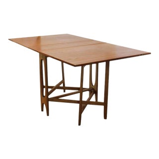 Mid-Century Gateleg Folding Dining Table