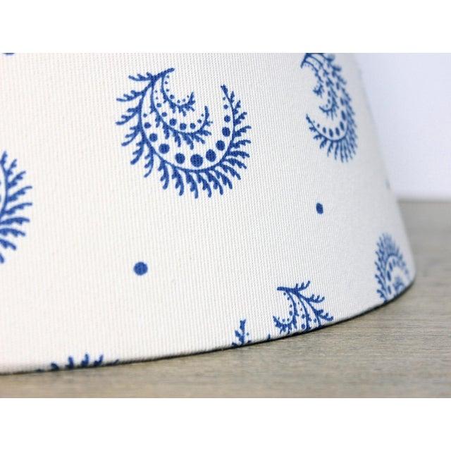 Boho Chic China Blue Desmond Sister Parish Fabric Lamp Shade For Sale - Image 3 of 4