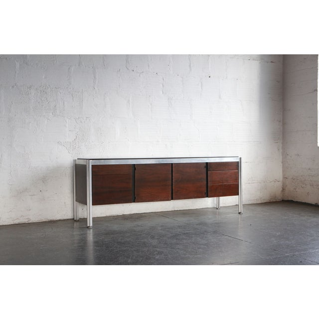 Mid-Century Modern 1960s Mid-Century Modern George Ciancimino Rosewood and Cast Aluminum Credenza For Sale - Image 3 of 4