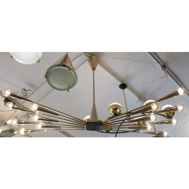 1960s Gold Plated Lumi Chandelier, Re-Edited for Gaspare Asaro For Sale - Image 5 of 7
