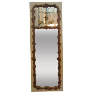French Maison Jansen Style Chinoiserie Mirror For Sale