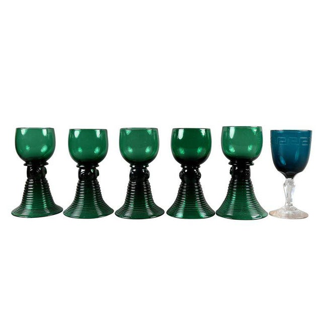 Collection of 61 Green Glasses For Sale In Boston - Image 6 of 10