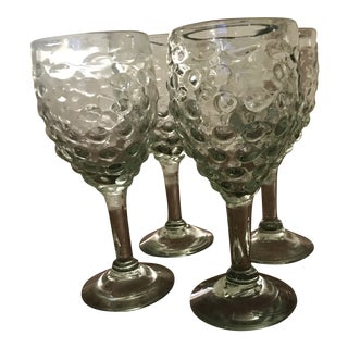 Green Wine Glasses - Set of 4 For Sale