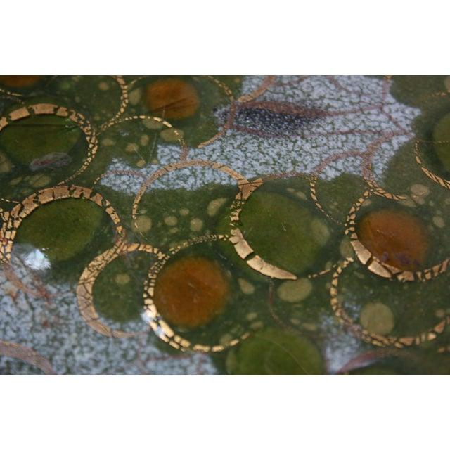 Sascha Brastoff 'Grapes on Vine' Enamel on Copper Charger For Sale - Image 12 of 13