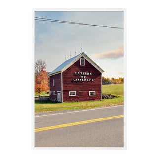 French Farm by HULETT, Contemporary Photograph in White, Large For Sale